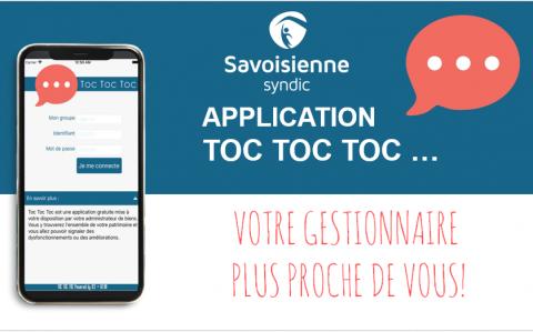 L'application TOC TOC TOC : votre gestionnaire plus proche de vous!