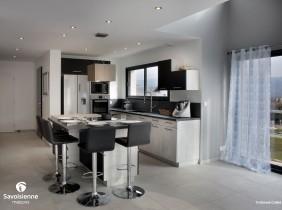 Cuisine - savoisienne habitat maison individuelle à Entrelacs