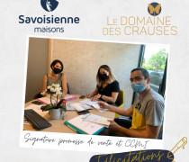 Signature promesse de vente et CCMI - Domaine des Crauses