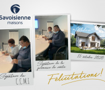 Signature d'un CCMI et d'une promesse de vente pour le lot n° 1 de notre lotissement « Les Coteaux de Leysse » à Saint Alban Leysse
